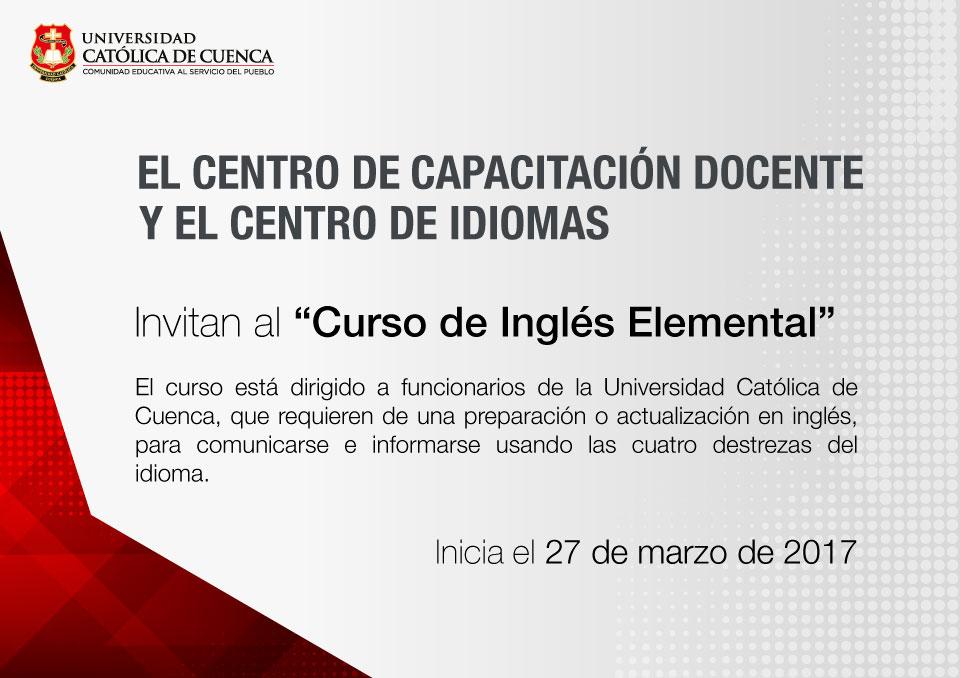 Curso: Inglés Elemental 1